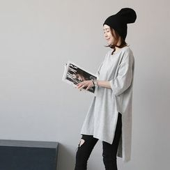 NANING9 - Oversized Slit-Side T-Shirt
