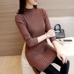 Ageha - Dip Back Knit Tunic