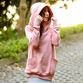 Tokyo Fashion - Brushed Fleece-Lined Hooded Pullover