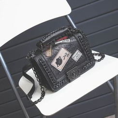 Secret Garden - Chain Detail Studded Shoulder Bag