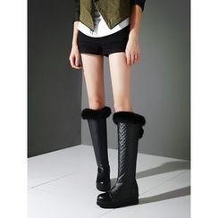 Cinnabelle - Hidden Wedge Tall Boots