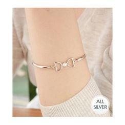 Miss21 Korea - Bow-Charm Silver Bracelet