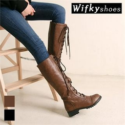 Wifky - Lace-Up Tall Boots