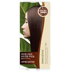 Innisfree - Set of 3: Natural Essence Hair Color Cream (4N Nautral Deep Brown) Step 1 + Step 2 + Ampoule 8ml