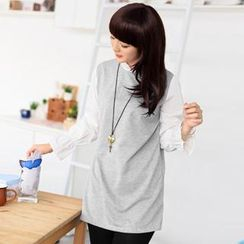 59 Seconds - Mock Two-Piece Tunic