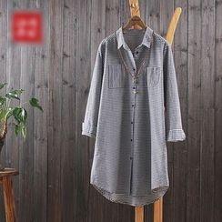 aerokiss - 条纹长款衬衫