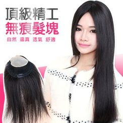 Clair Beauty - Long Real Hair Half Wig - Straight