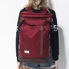Mr.ace Homme - Contrast-Trim Nylon Backpack