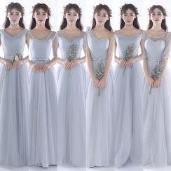 MSSBridal - 短袖 / 中袖 / 无袖伴娘裙