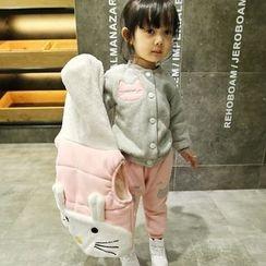 Merry Go Round - Kids Set: Hooded Vest + Baseball Jacket + Sweatpants