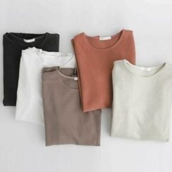 JUSTONE - Round-Neck Colored T-Shirt