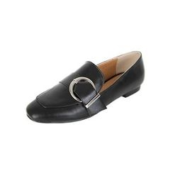 DABAGIRL - Square-Toe Buckled Loafers