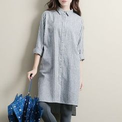 Diosa - Striped Shirtdress