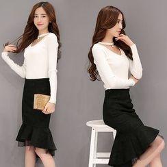Soraka - Set: Sweater + Ruffled Skirt