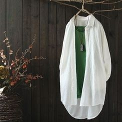 SASKIS - Linen Long Shirt