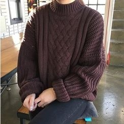 Dute - Mock Neck Thick Sweater