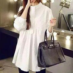 lilygirl - Mandarin Collar Shirtdress