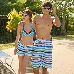Tamtam Beach - Couple Striped Beach Shorts
