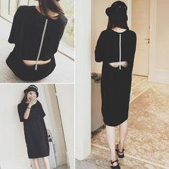 MePanda - Cutout T-Shirt Dress