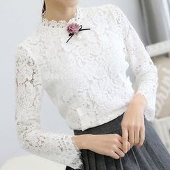 Falaso - Long-Sleeve Lace Top
