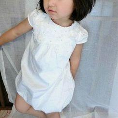 Happy Lala - Kids Short-Sleeve Rosette Dress