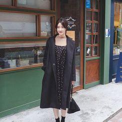 mimi&didi - Notched-Lapel Wool Blend Coat