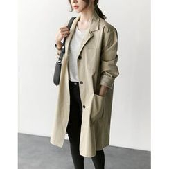 UPTOWNHOLIC - Single-Breasted Trench Coat