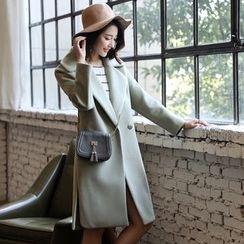 Romantica - Notched-Lapel Snap-Button Coat