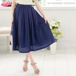 Tokyo Fashion - Plain Pleated A-Line Skirt