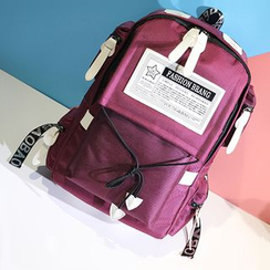 BeiBaoBao - Applique Nylon Backpack