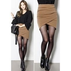 INSTYLEFIT - Shirred Mini Pencil Skirt