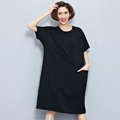 Carabecca - Short-Sleeve Print T-Shirt Dress