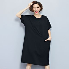 Carabecca - 短袖印花T裇連衣裙