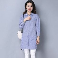 Salisha - Pinstriped Long Shirt