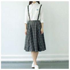 Clover Dream - Check Jumper Skirt