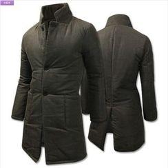 WIZIKOREA - Corduroy Padded Coat