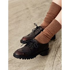 FROMBEGINNING - Chunky-Heel Oxfords
