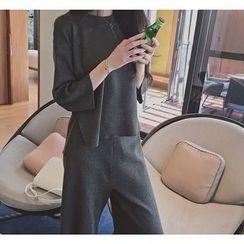 Florie - Set: Knit Top + Cropped Pants