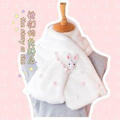 AOI - Rabbit-Accent Faux Fur Scarf