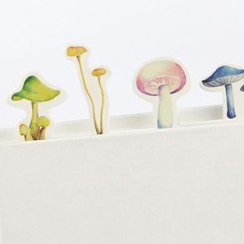 Homey House - Mushroom Print Bookmark Set (30 pcs)