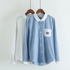 白金天使 - 细条纹衬衫