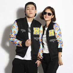 HappyTee - Applique Couple Zip Jacket