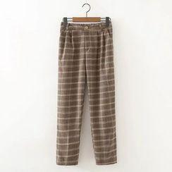 Moricode - Plaid Straight-Leg Pants