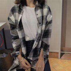 EEKO - Plaid Long Shirt