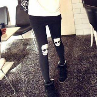 Ando Store - Skull Print Leggings