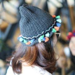 卿本佳人 - 童裝吊蘇針織漁夫帽
