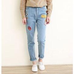 三木社 - 刺绣水洗牛仔裤