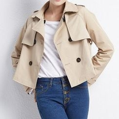 LUIMINE - Double-Breasted Cropped Jacket