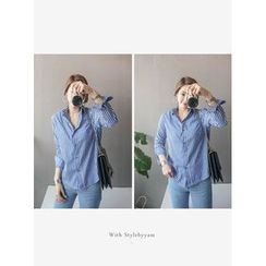 STYLEBYYAM - Stripe Dip-Back Shirt