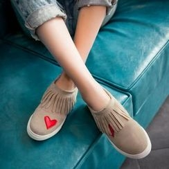 Pangmama - Applique Fringed Sneakers